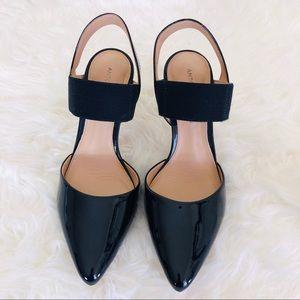 Antonio Melani Black Patent Leather Heel Shoes